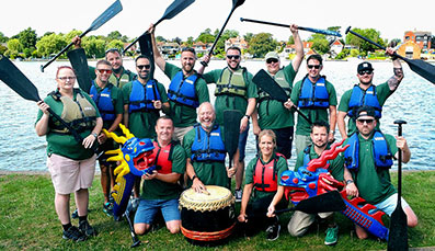 East Anglia ONE windfarm team come seventh in Dragon Boat Festival and donates funds to  Lowestoft RNLI Lifeboat Station