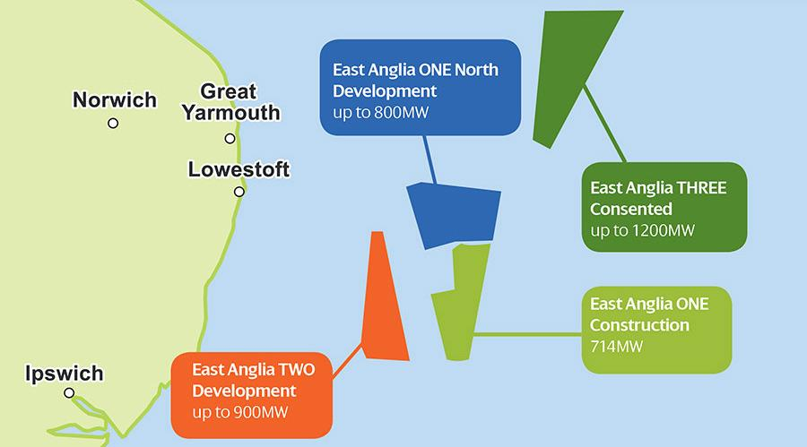 East Anglia project map