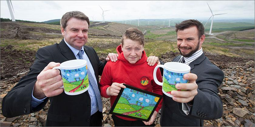 Tundergarth Primary School Pupil's Artwork in Focus as Ewe Hill Windfarm Powers on to the Grid