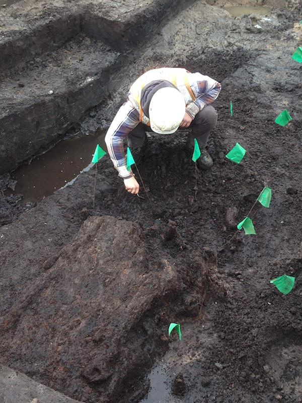 Neolithic trackway - excavation