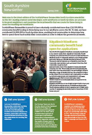 ScottishPower Renewables South Ayrshire Stakeholder Newsletter